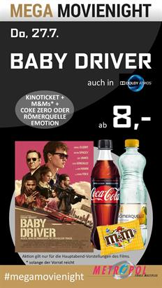 Bild: MEGA MovieNight: Baby Driver