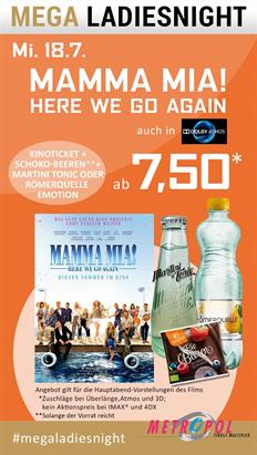 Bild: MEGA LadiesNight: Mamma Mia!: Here We Go Again!