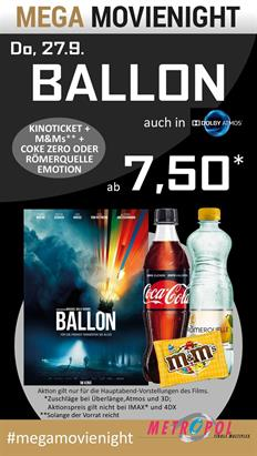 Bild: MEGA MovieNight: Ballon