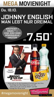 Bild: MEGA MovieNight: Johnny English 3: Man lebt nur dreimal