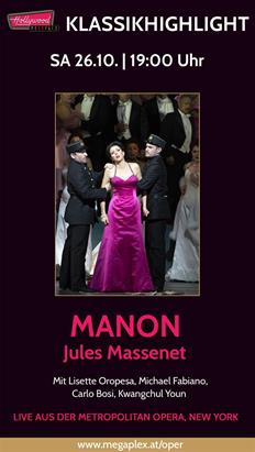 Bild: Live Oper aus New York: MANON (Massenet)